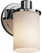 """Justice Design Rondo 7 3/4"""" High Chrome Wall Sconce"""