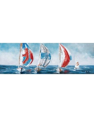 Highland Dunes Sailing with the Wind' Oil Painting Print on Wrapped Canvas BF027790