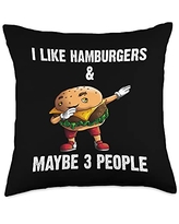 Best Sandwich & Fast Food Meat Cooking Accessories Funny Hamburger Gift For Men Women Burger Cheeseburger Food Throw Pillow, 18x18, Multicolor