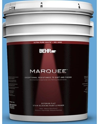 BEHR MARQUEE 5 gal. #560B-5 Ocean Tropic Flat Exterior Paint and Primer in One