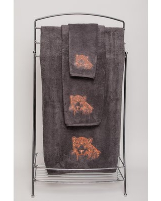Karlyn 2 Piece 100% Cotton Hand Towel Set Bloomsbury Market Color: Charcoal