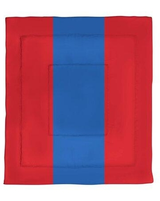 East Urban Home College Stripes Kansas Microfiber Single Reversible Comforter EBLB2207 Size: Queen Comforter Color: Red/Blue Middle