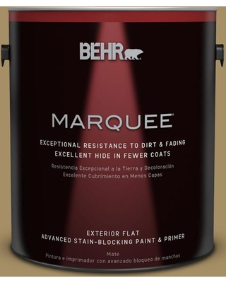 BEHR MARQUEE 1 gal. #350F-6 Fossil Butte Flat Exterior Paint and Primer in One