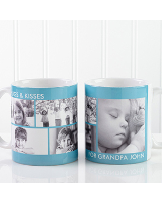 5 Photo Collage Personalized Photo Coffee Mugs - Picture Perfect