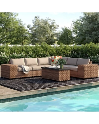 Waterbury 9 Piece Sectional Seating Group with Cushions Sol 72 Outdoor™