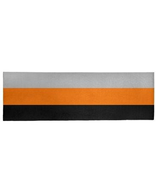 "East Urban Home Orange/Gray Area Rug EBLO2895 Rug Size: Runner 2'6"" x 8'"