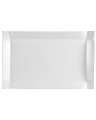 CAC China TMS-13 Times Square Super White Porcelain Rectangular Platter, 12-1/2-Inch by 6-Inch, Box of 12