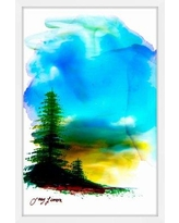 """Loon Peak 'The Immensity' Framed Watercolor Painting Print LOPK3317 Size: 45"""" H x 30"""" W"""