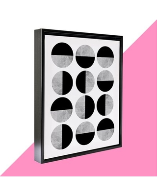 """Scan Round - Graphic Art Print on Canvas Hashtag Home Format: Black Framed, Size: 37.75"""" H x 25.75"""" W x 1.75"""" D"""