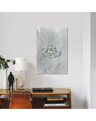 """East Urban Home 'English Silver III' Graphic Art Print on Canvas ESBH6636 Size: 12"""" H x 8"""" W x 0.75"""" D"""