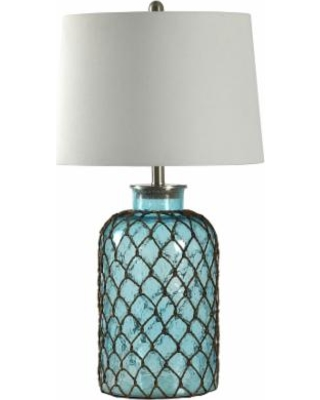 Montego Bay Blue Glass Table Lamp