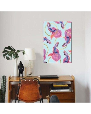 """East Urban Home 'Hula Hoops' Graphic Art Print on Canvas EBHT1005 Size: 40"""" H x 26"""" W x 1.5"""" D"""