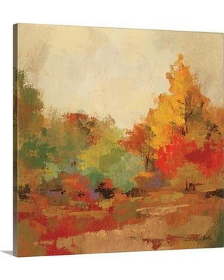 """Canvas On Demand 'Fall Forest II' by Silvia Vassileva Painting Print on Canvas 1395544_24 Size: 30"""" H x 30"""" W x 1.25"""" D"""