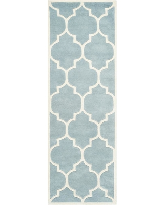 Safavieh Chatham Blue/Ivory 2 ft. x 17 ft. Runner Rug