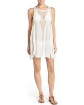 Women's Elan Crochet Inset Cover-Up Dress, Size Small - White