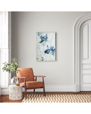 """Andover Mills™ 'Morning Iris' - Wrapped Canvas Painting Print, Canvas and Fabric in Brown/Blue/Gray, Size 36"""" H x 24"""" W x 1.5"""" D 