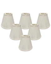 CS-110WH Inc. Royal Designs Pleated Empire Chandelier Lamp Shade White Size 4
