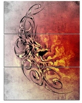 Remarkable Deals On Design Art Spanish Bull Tattoo Sketch 3 Piece Graphic Art On Wrapped Canvas Set Canvas Fabric In Brown Orange Gray Size Medium 25 32 Wayfair