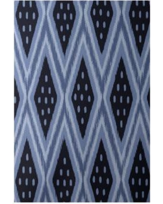 e by design Flatweave Blue Area Rug RGN215BL15BL14- Rug Size: Rectangle 3' x 5'