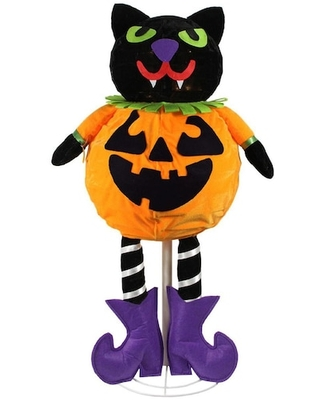 Led-Lighted Standing Black Cat Jack-O-Lantern Halloween Pumpkin By Northlight | Michaels®