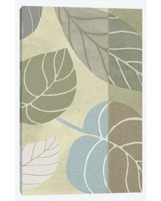 """East Urban Home 'Leaf Story VI' Graphic Art Print on Wrapped Canvas EBHS1224 Size: 18"""" H x 12"""" W x 1.5"""" D"""