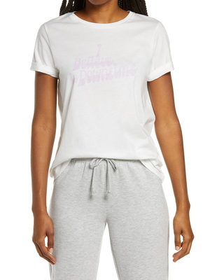 Women's Ban. do Downtime Classic Graphic Tee, Size Small - Ivory