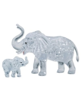 BePuzzled Elephant and Baby 46-Piece 3D Crystal Puzzle