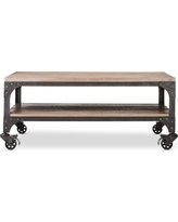 Franklin Coffee Table Weathered Gray - The Industrial Shop