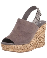 Coconuts by Matisse womens Sling Back Wedge Sandal, Charcoal, 10 US