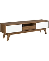 """Envision 59"""" TV Stand Walnut White - Modway"""