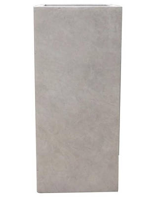 KANTE 20 in. Tall Weathered Concrete Lightweight Durable Modern Square Outdoor Planter