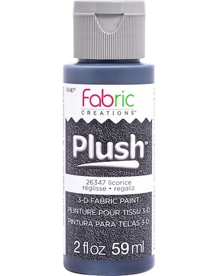 Plaid® Fabric Creations™ Plush™ 3D Fabric Paint in Licorice | 2 oz | Michaels®