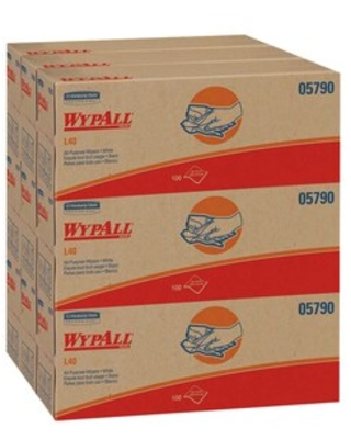 WypAll L40 Cellulose Wipers, White, 100 Wipes/box, 9 Boxes/Carton (05790) | Quill