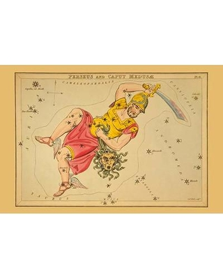 """Buyenlarge 'Perseus and Caput Medusæ' by Aspin Jehosaphat Graphic Art 0-587-23203-x Size: 66"""" H x 44"""" W"""