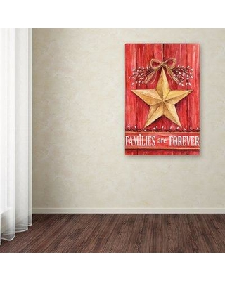 """Winston Porter 'Gold Barn Star Families are Forever' Print on Wrapped Canvas WNPO5451 Size: 19"""" H x 12"""" W x 2"""" D"""