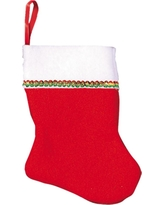 4.25 in. x 3 in. Felt Christmas Stockings (6-Count, 4-Pack), Red; White