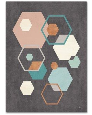 """Wrought Studio 'Abstract Geo III Black' Graphic Art Print on Wrapped Canvas WRSE1239 Size: 32"""" H x 24"""" W"""