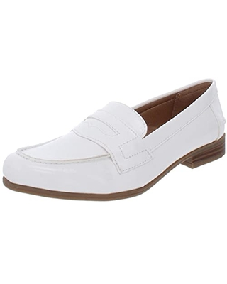 Life Stride Women's Madison Shoes Loafer, White, 8.5 M US