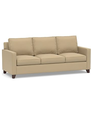 Cameron Square Arm Upholstered Side Sleeper Sofa, Polyester Wrapped Cushions, Performance Everydaysuede(TM) Light Wheat