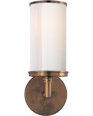 Visual Comfort and Co. Studio Vc Cylinder 13 Inch Wall Sconce - S 2006HAB-WG