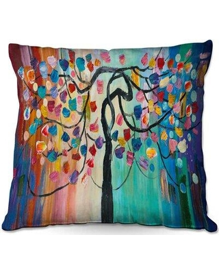 "Ebern Designs Riggleman Couch Color Tree XV Throw Pillow W001620710 Size: 18"" x 18"""