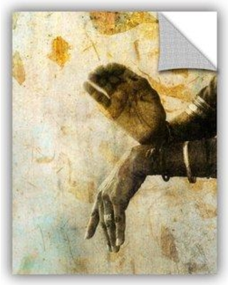 """ArtWall Sacred Mudra by Elena Ray Removable Wall Decal 0ray009a Size: 32"""" H x 24"""" W x 0.1"""" D"""