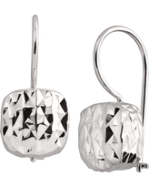 Silpada 'Rounded Cube' Drop Earrings in Textured Sterling Silver