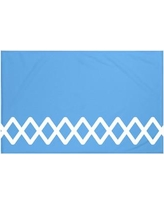 "Breakwater Bay Vanguard Geometric Print Throw Blanket BRWT6001 Size: 60"" L x 50"" W, Color: Azure (Blue)"