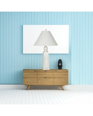 """Torresdale 30.5"""" Table Lamp Rosecliff Heights Base Color: White"""