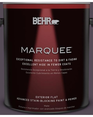BEHR MARQUEE 1 gal. #670F-7 Blackberry Wine Flat Exterior Paint and Primer in One
