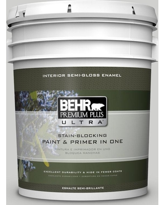 BEHR ULTRA 5 gal. #PPU26-15 Halation Semi-Gloss Enamel Interior Paint and Primer in One
