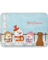 The Holiday Aisle Merry Christmas Carolers Briard Memory Foam Bath Rug THLA5284 Color: Brown