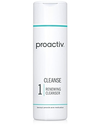 Proactiv Acne Cleanser - Benzoyl Peroxide Face Wash and Acne Treatment - Daily Facial Cleanser and Hyularonic Acid Moisturizer with Exfoliating Beads - 60 Day Supply, 4 Oz