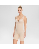 Assets by Spanx Women's Remarkable Results All-in-One Body Slimmer - Light Beige 1X